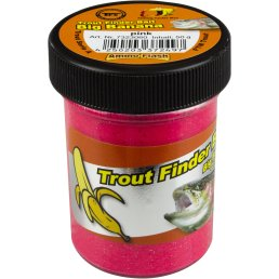 Trout Finder Bait Forellenteig Glitter Big Banana pink